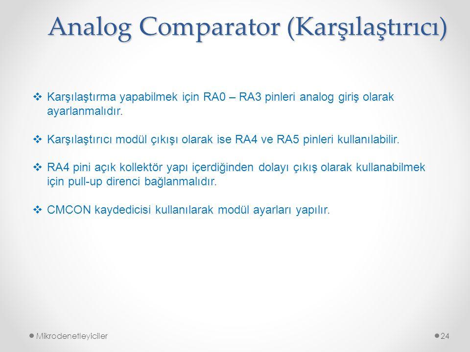 Analog Comparator (Karşılaştırıcı)