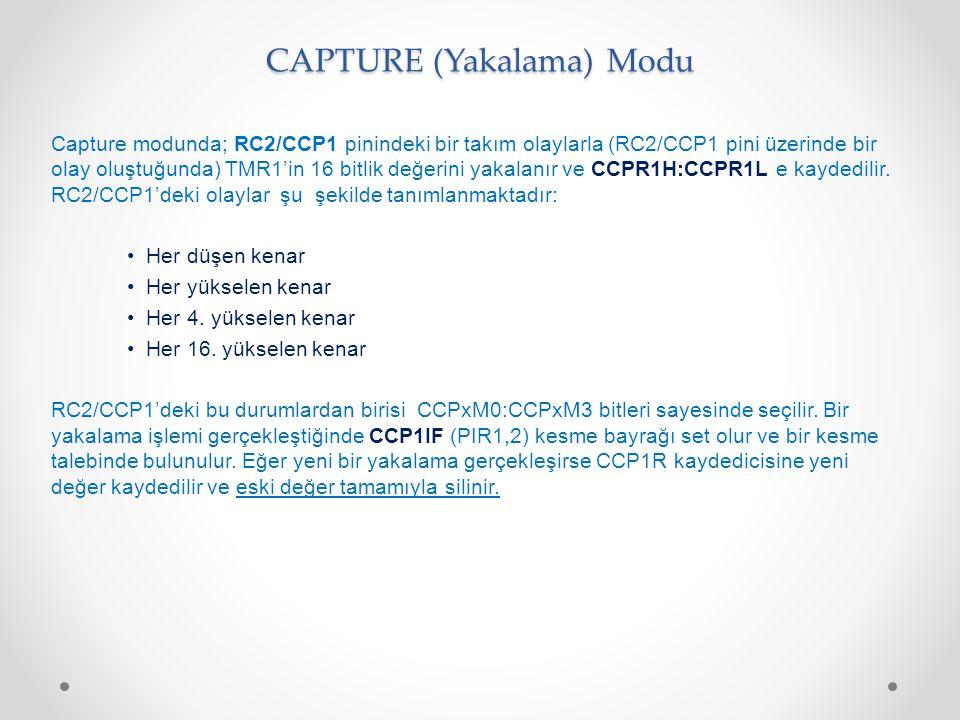 CAPTURE (Yakalama) Modu