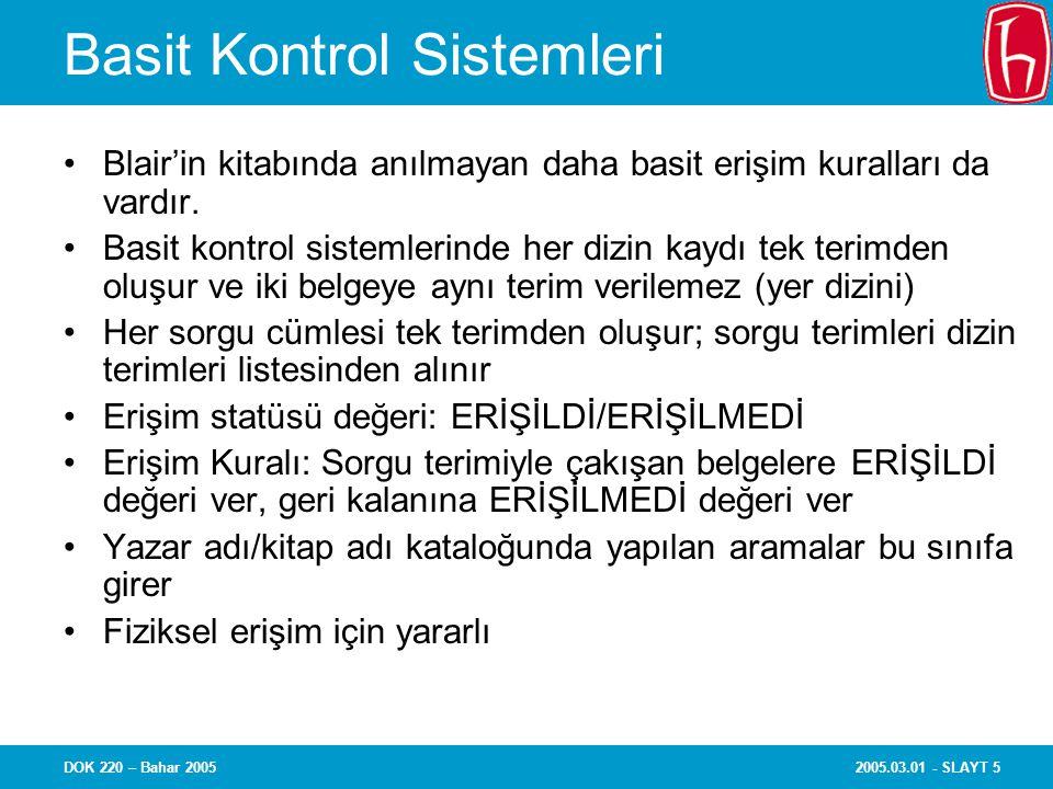 Basit Kontrol Sistemleri