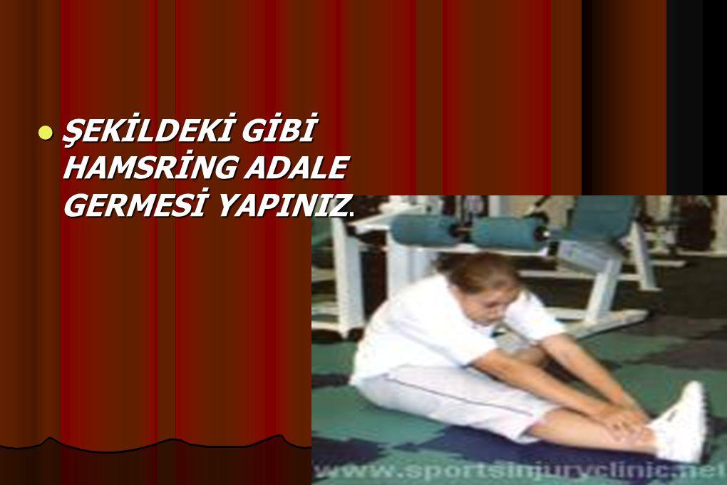 ŞEKİLDEKİ GİBİ HAMSRİNG ADALE GERMESİ YAPINIZ.