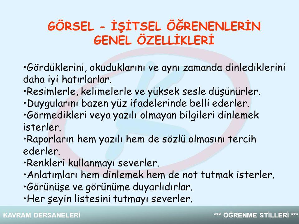 GÖRSEL - İŞİTSEL ÖĞRENENLERİN