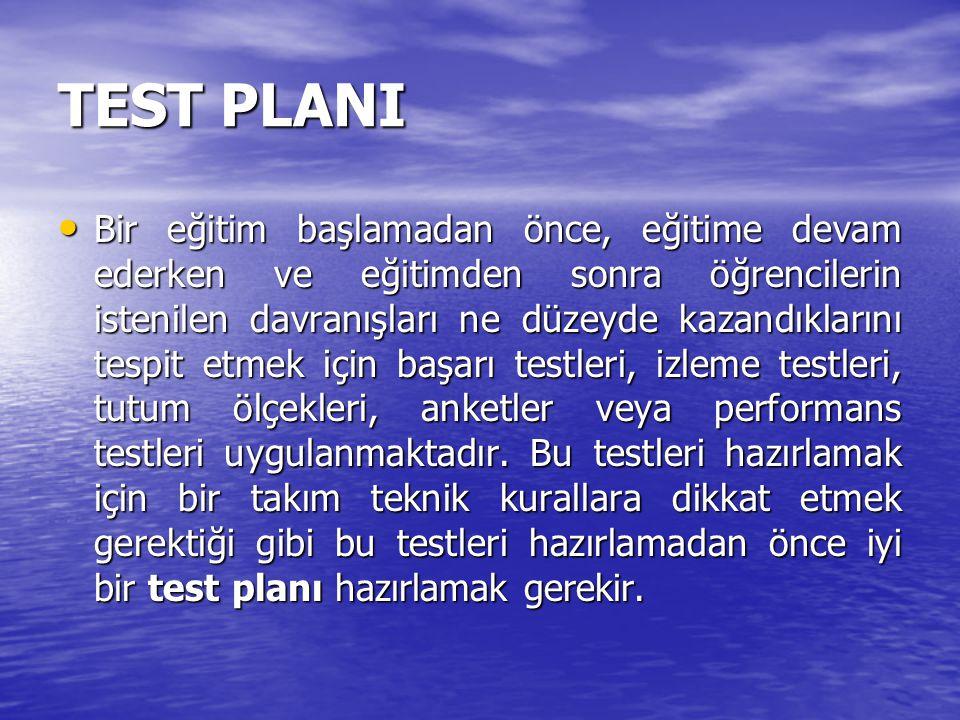 TEST PLANI