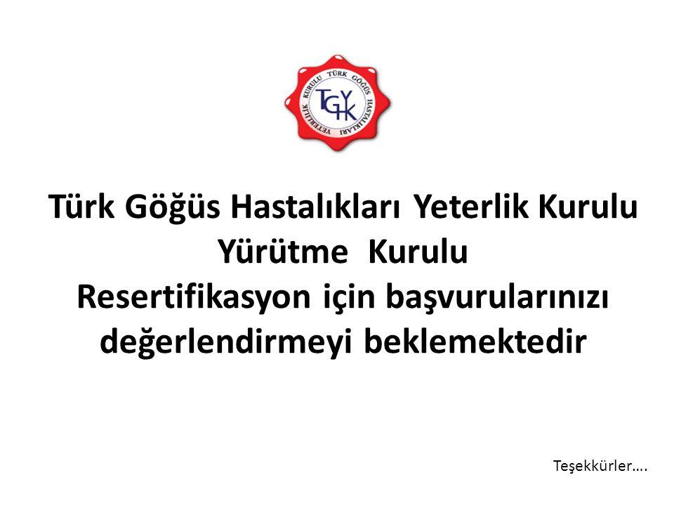 Türk Göğüs Hastalıkları Yeterlik Kurulu Yürütme Kurulu Resertifikasyon için başvurularınızı değerlendirmeyi beklemektedir