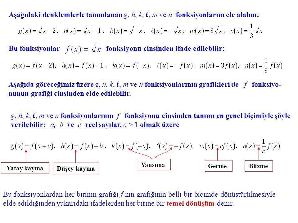 Bu fonksiyonlar fonksiyonu cinsinden ifade edilebilir: