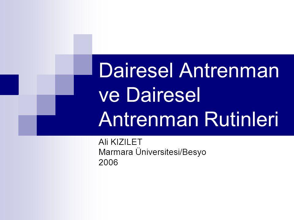Dairesel Antrenman ve Dairesel Antrenman Rutinleri