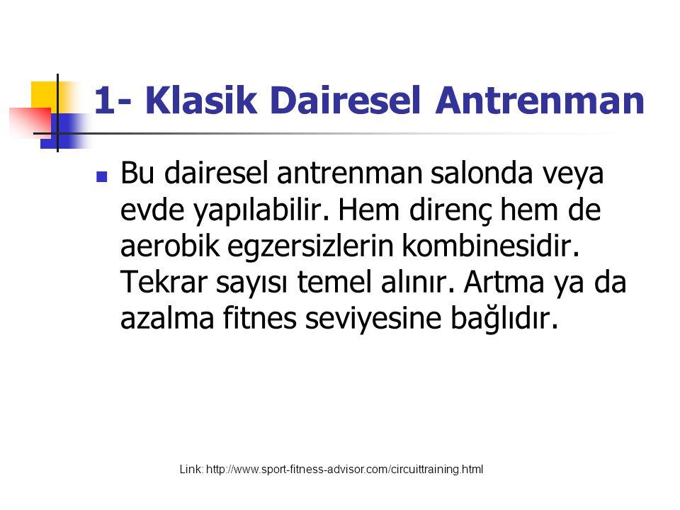 1- Klasik Dairesel Antrenman