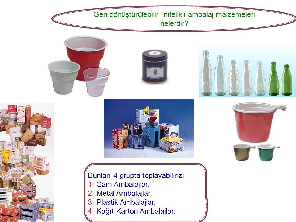 Geri dönüştürülebilir nitelikli ambalaj malzemeleri nelerdir