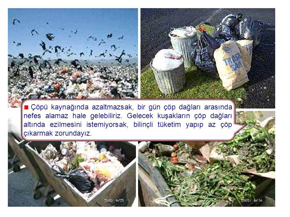 Çöpü kaynağında azaltmazsak, bir gün çöp dağları arasında nefes alamaz hale gelebiliriz.