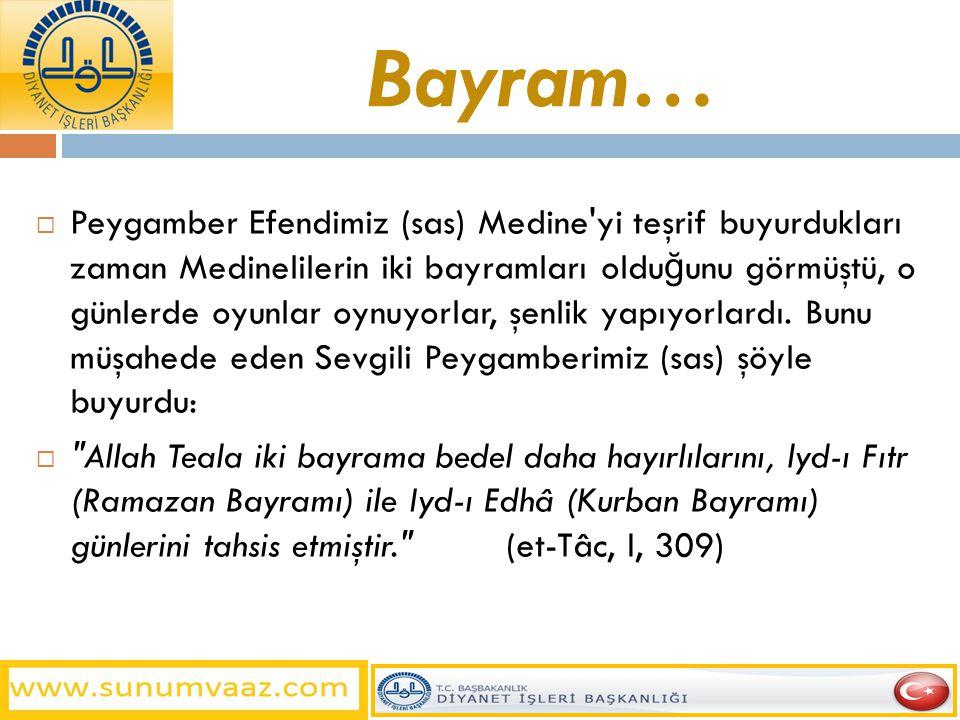 Bayram…