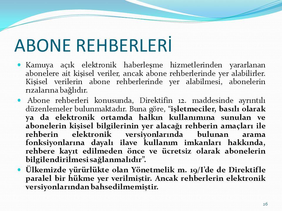 ABONE REHBERLERİ