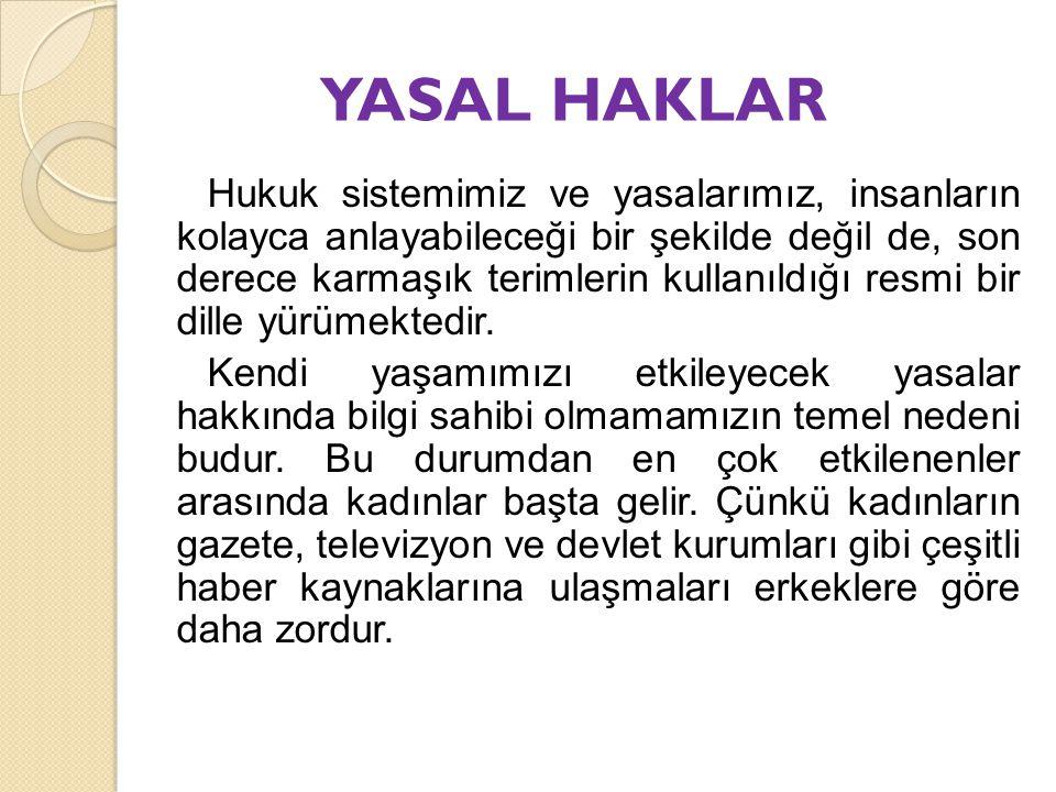 YASAL HAKLAR