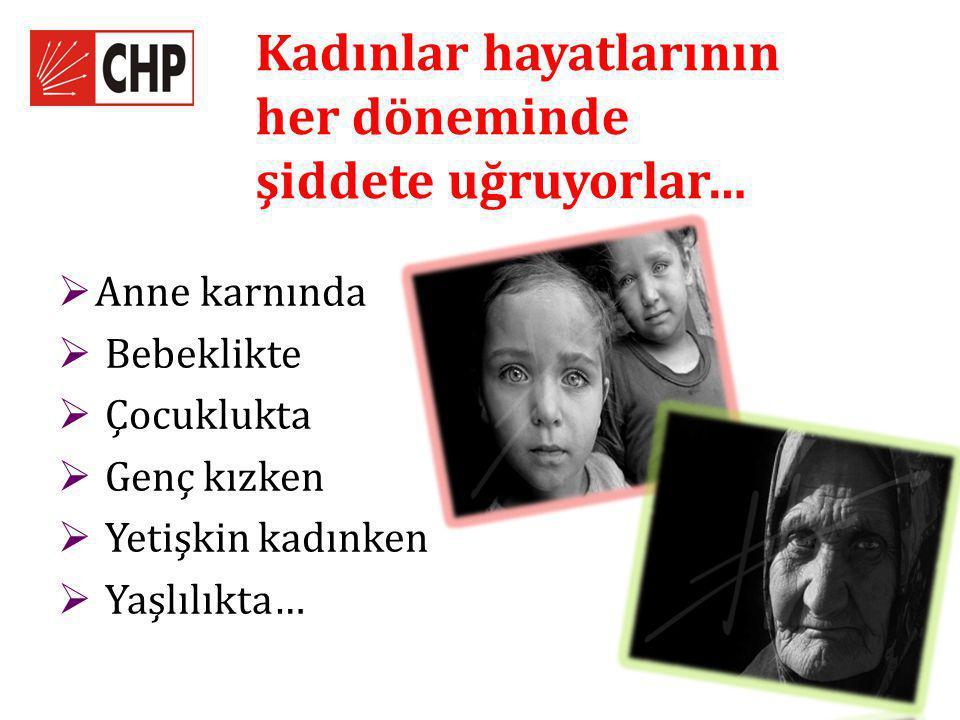 Kadınlar hayatlarının her döneminde şiddete uğruyorlar…