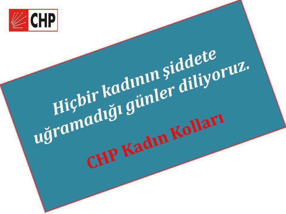 Hiçbir kadının şiddete uğramadığı günler diliyoruz. CHP Kadın Kolları