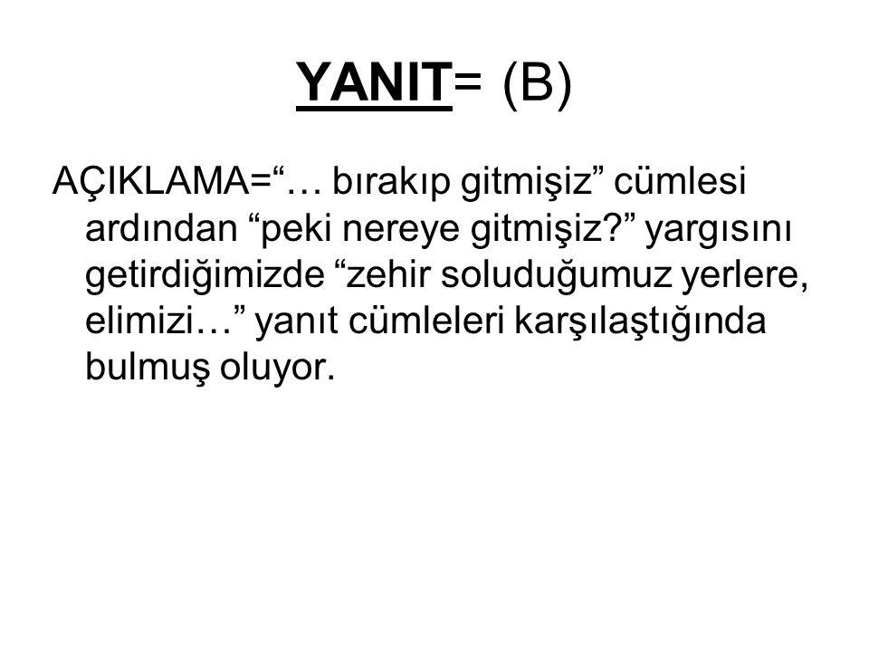 YANIT= (B)