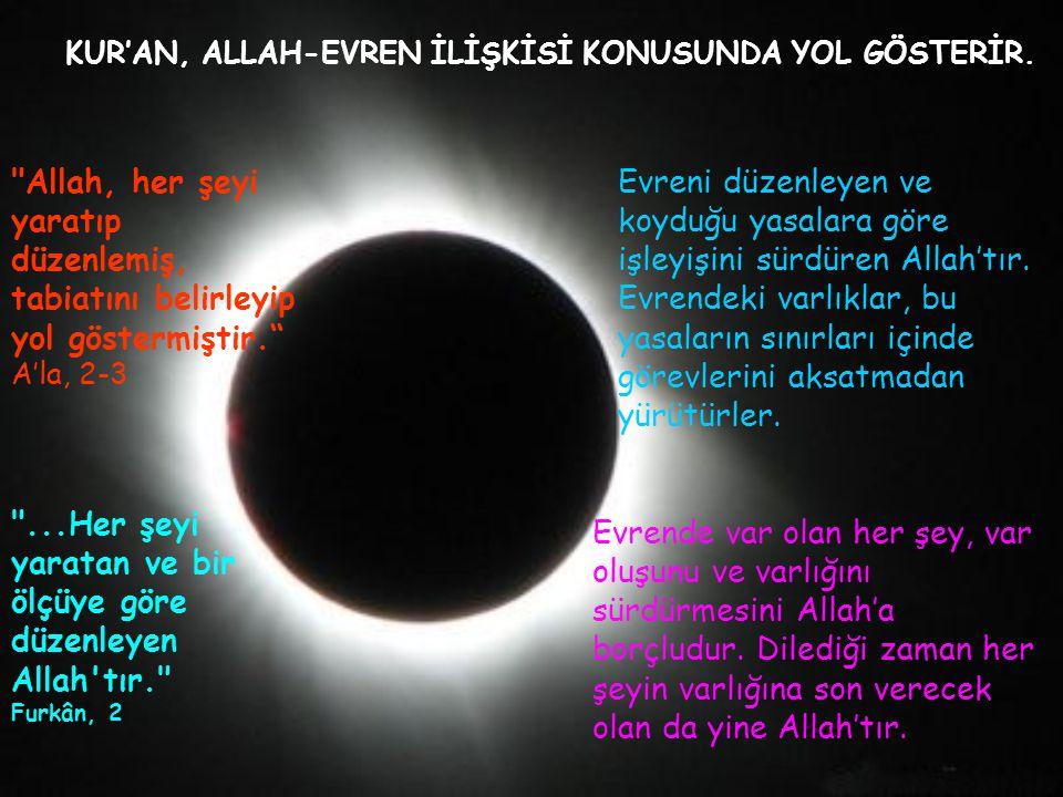 KUR'AN, ALLAH-EVREN İLİŞKİSİ KONUSUNDA YOL GÖSTERİR.