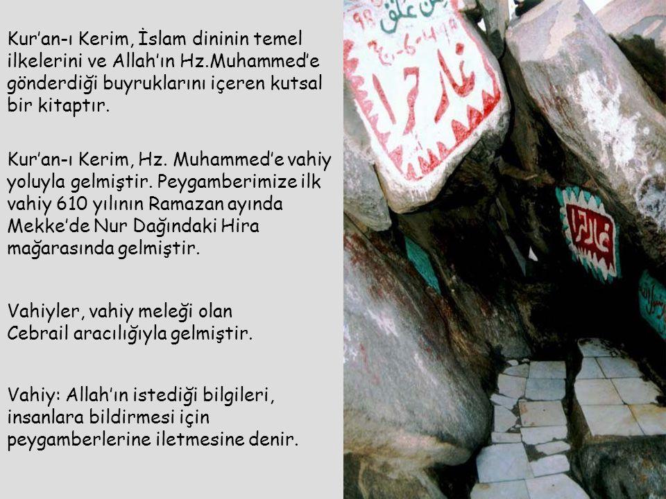 Kur'an-ı Kerim, İslam dininin temel ilkelerini ve Allah'ın Hz