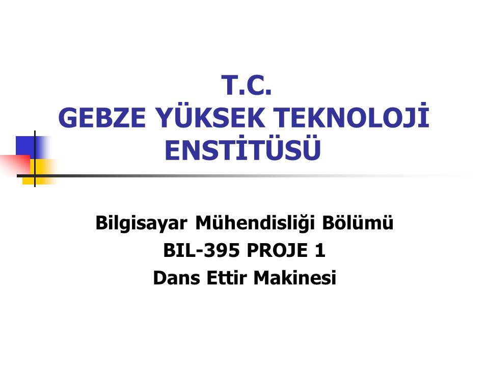 T.C. GEBZE YÜKSEK TEKNOLOJİ ENSTİTÜSÜ