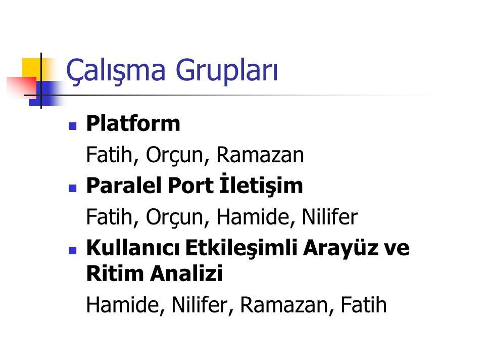 Çalışma Grupları Platform Fatih, Orçun, Ramazan Paralel Port İletişim