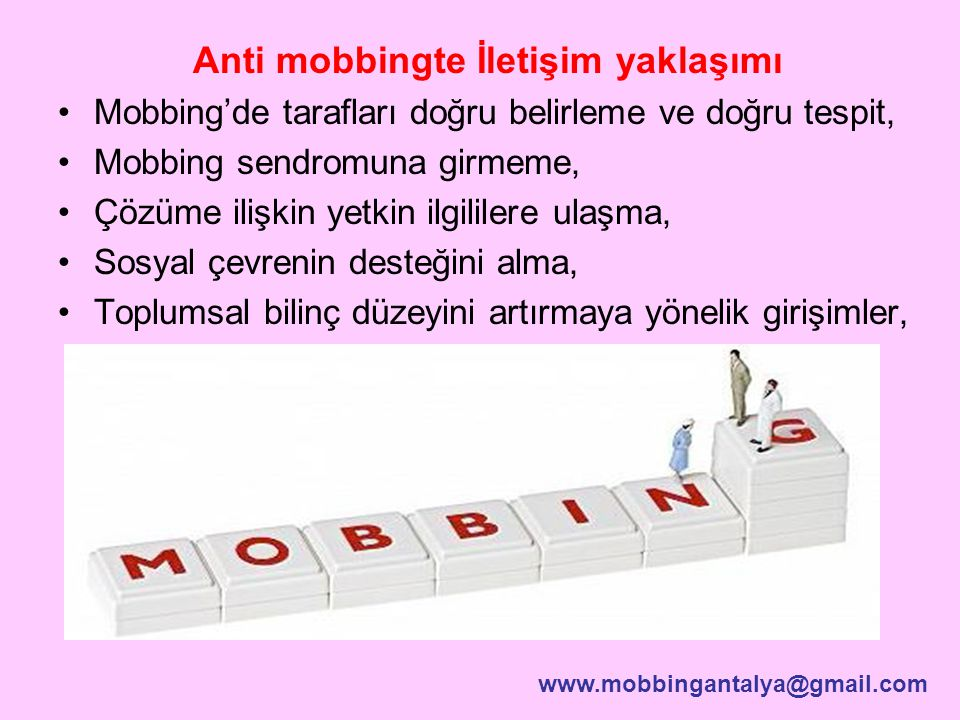 Anti mobbingte İletişim yaklaşımı