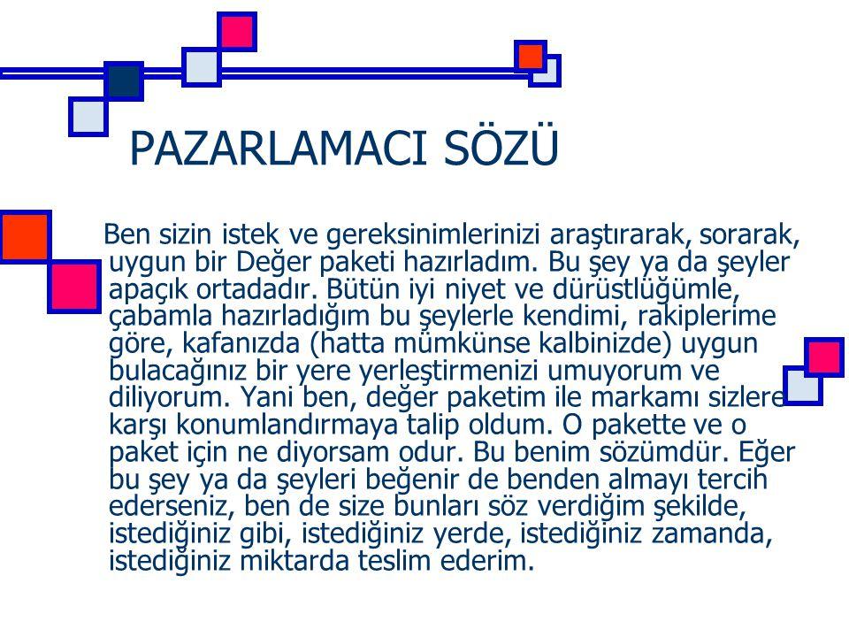 PAZARLAMACI SÖZÜ