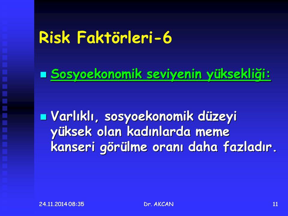 Risk Faktörleri-6 Sosyoekonomik seviyenin yüksekliği: