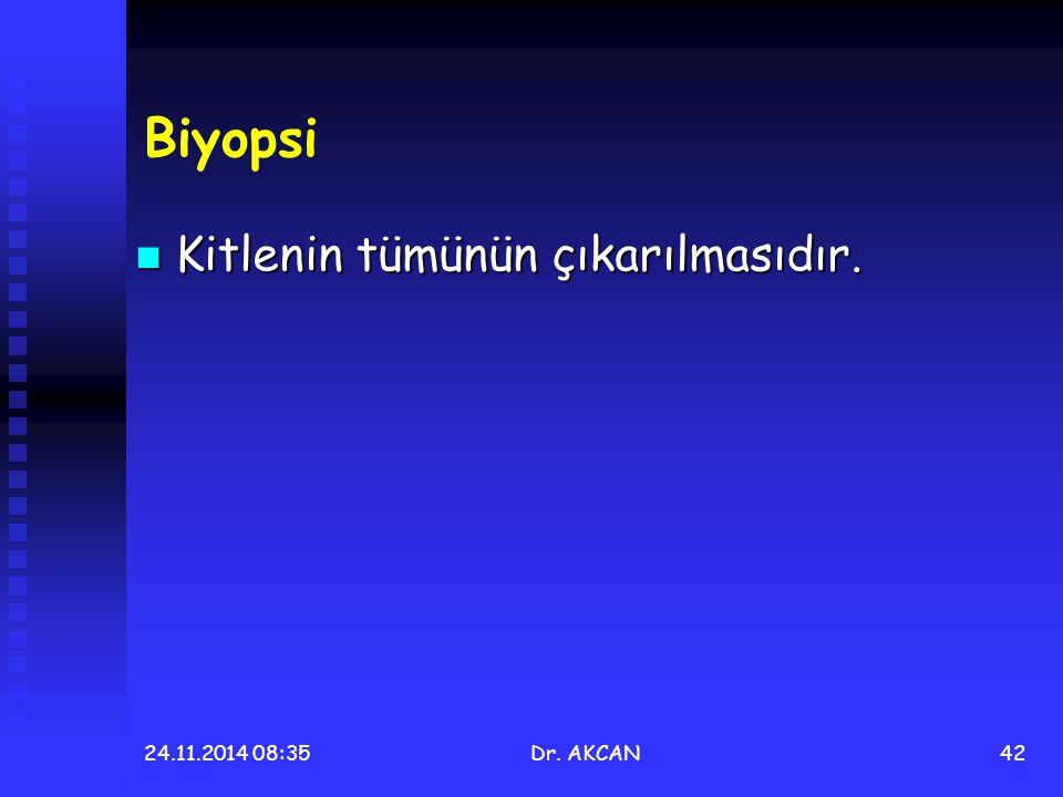 Biyopsi Kitlenin tümünün çıkarılmasıdır. 07.04.2017 06:29 Dr. AKCAN