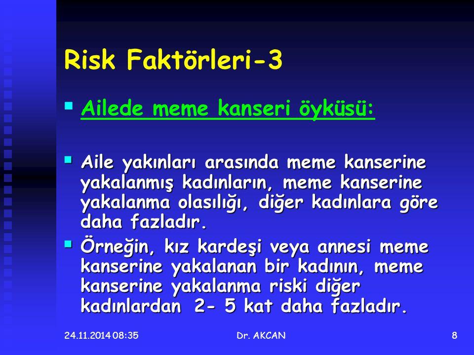 Risk Faktörleri-3 Ailede meme kanseri öyküsü: