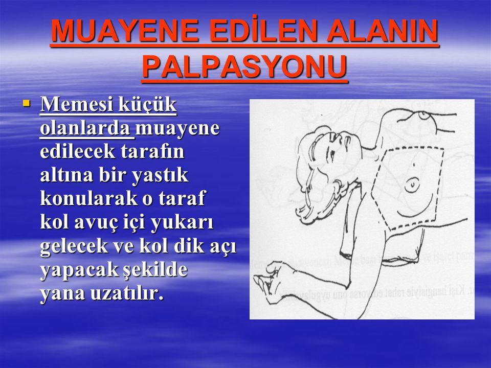 MUAYENE EDİLEN ALANIN PALPASYONU