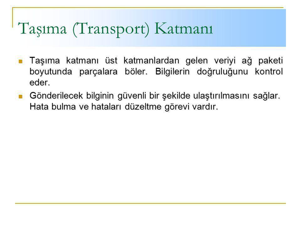 Taşıma (Transport) Katmanı