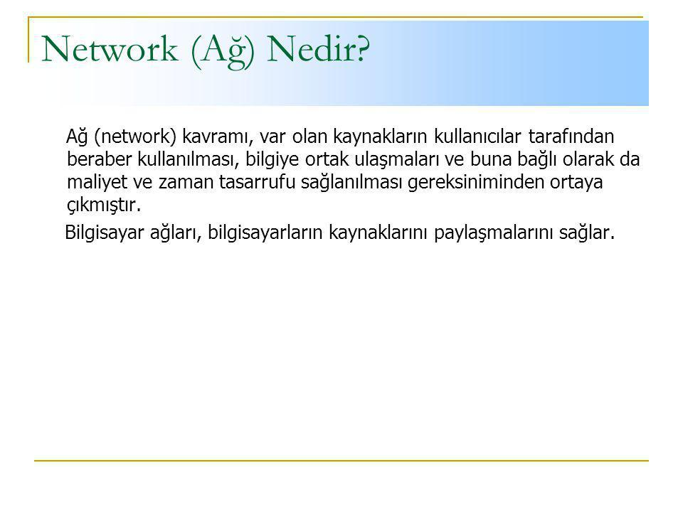 Network (Ağ) Nedir
