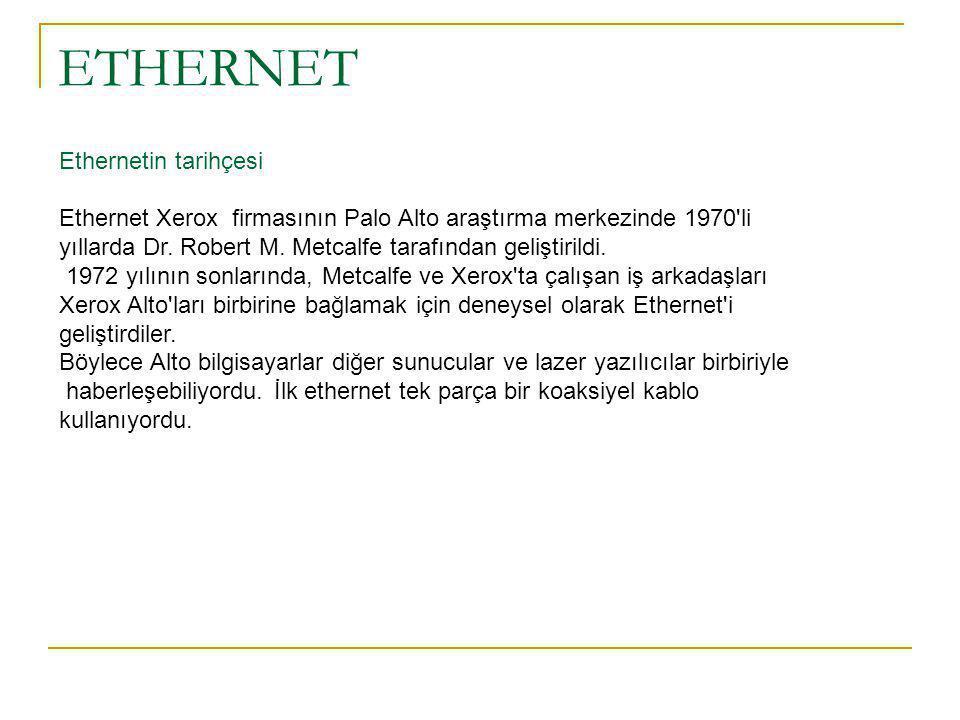ETHERNET Ethernetin tarihçesi
