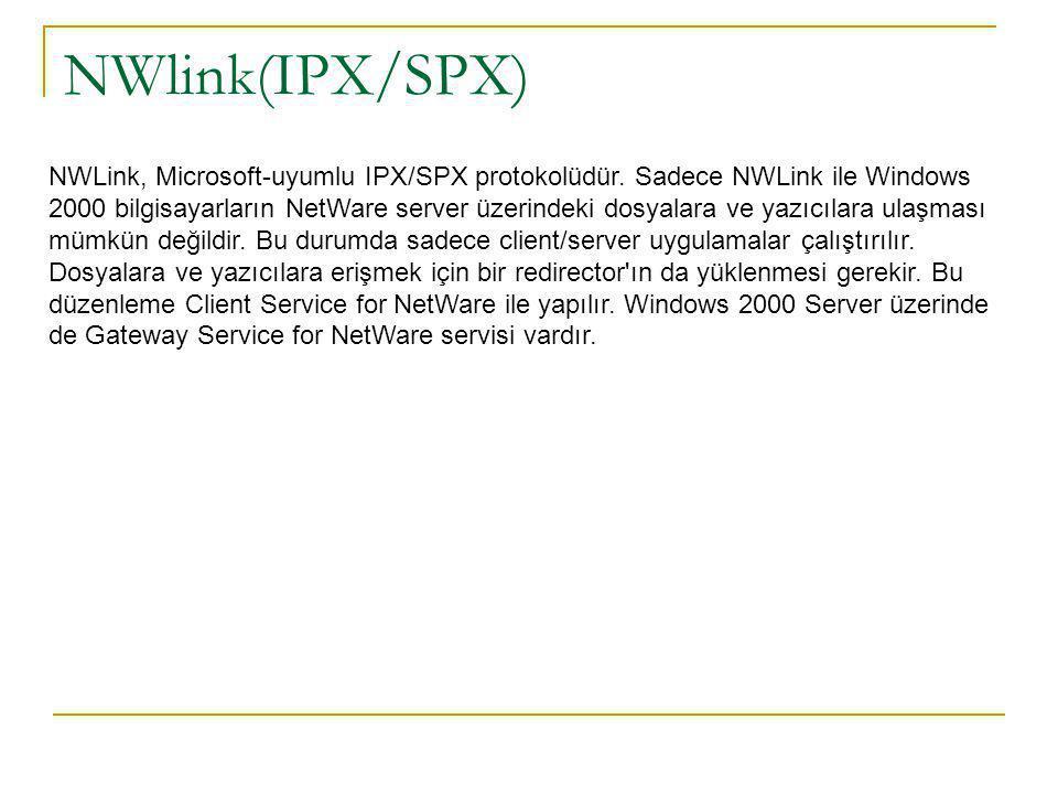 NWlink(IPX/SPX)
