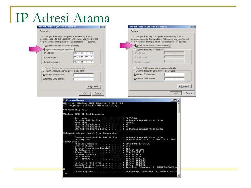 IP Adresi Atama