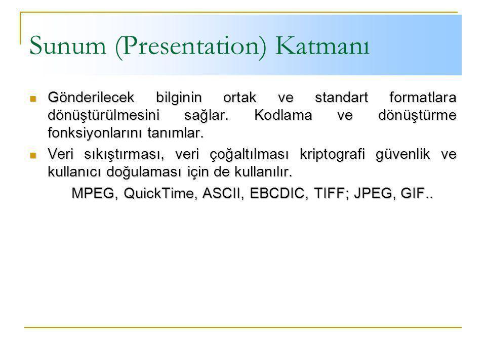 Sunum (Presentation) Katmanı