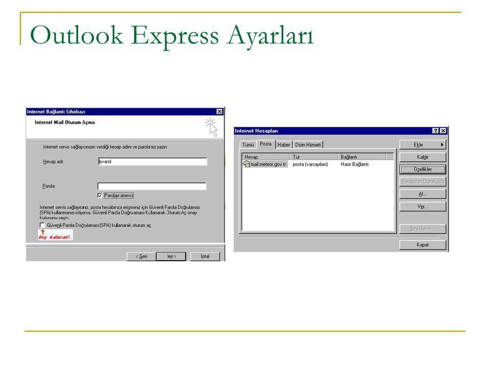 Outlook Express Ayarları
