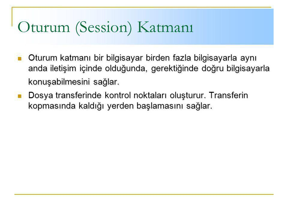 Oturum (Session) Katmanı