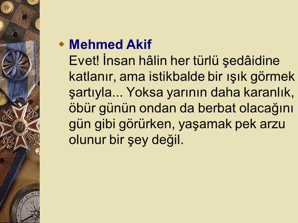 Mehmed Akif Evet.