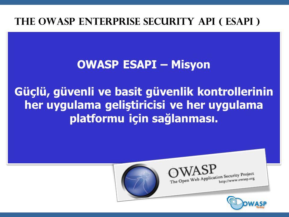 The OWASP Enterprise Security API ( ESAPI )