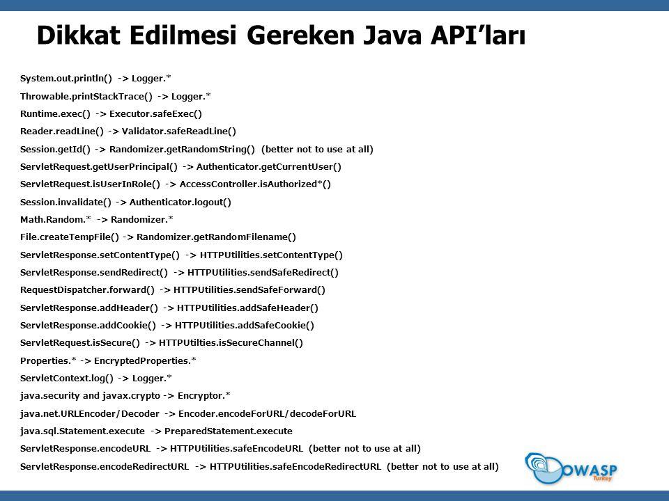 Dikkat Edilmesi Gereken Java API'ları