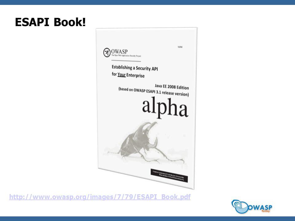 ESAPI Book! http://www.owasp.org/images/7/79/ESAPI_Book.pdf