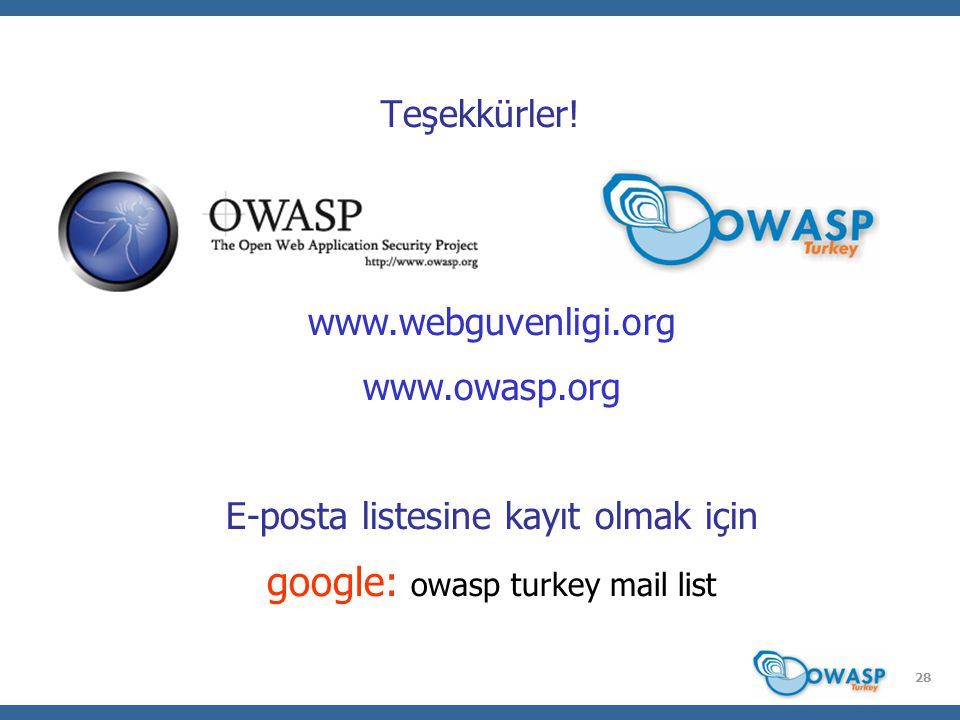 google: owasp turkey mail list