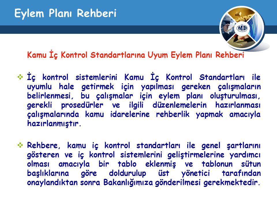 Eylem Planı Rehberi Kamu İç Kontrol Standartlarına Uyum Eylem Planı Rehberi.