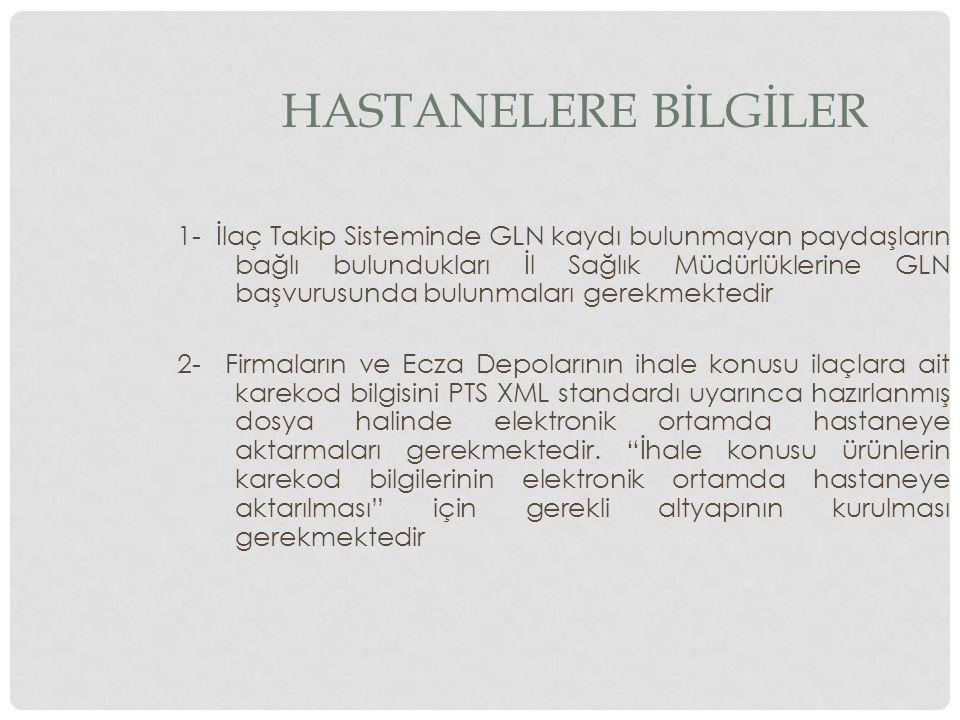 HASTANELERE BİLGİLER