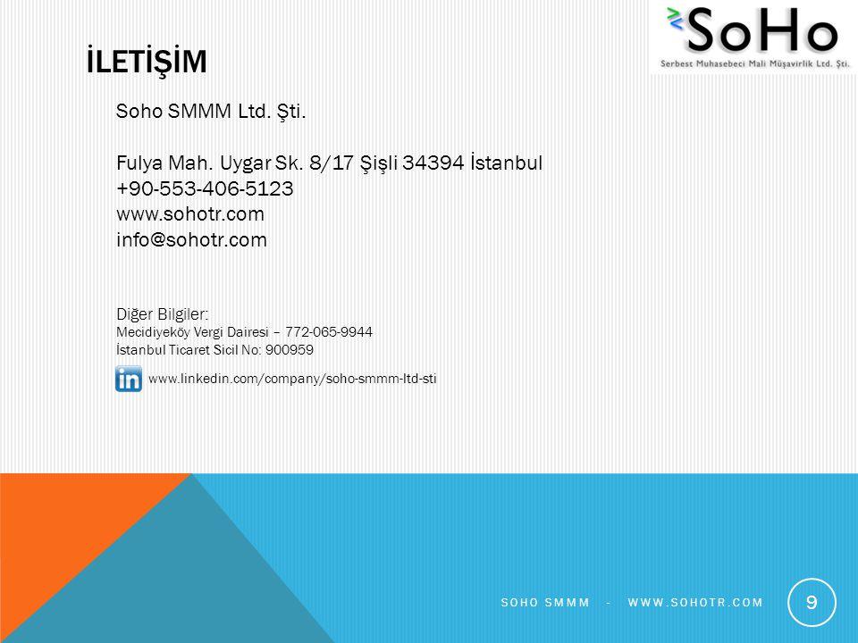 İLETİŞİM Soho SMMM Ltd. Şti.