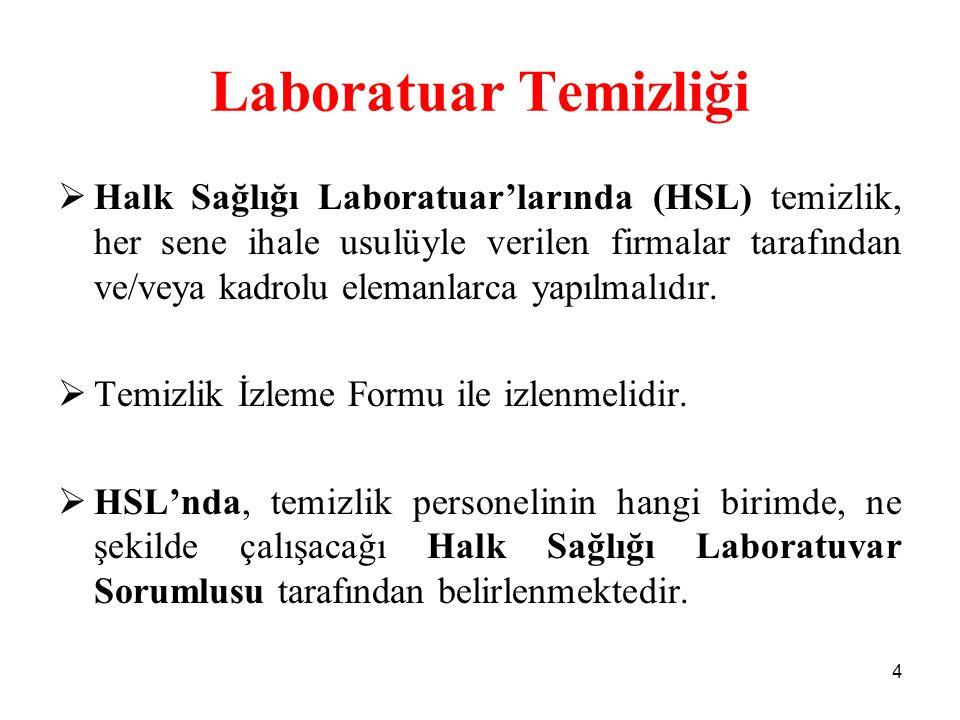 Laboratuar Temizliği