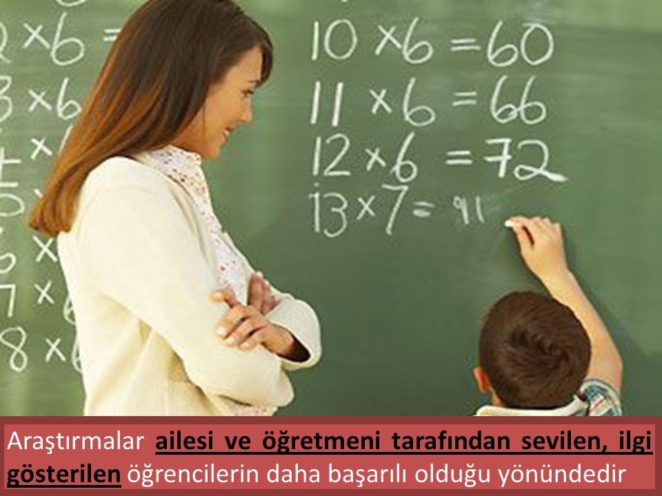 Araştırmalar ailesi ve öğretmeni tarafından sevilen, ilgi gösterilen öğrencilerin daha başarılı olduğu yönündedir