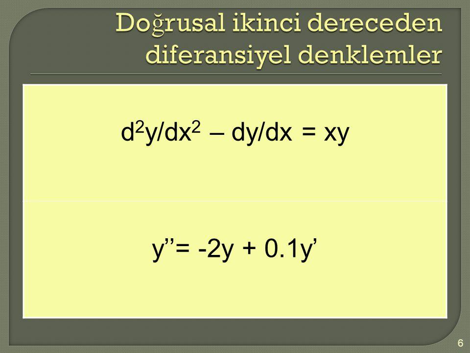 Doğrusal ikinci dereceden diferansiyel denklemler
