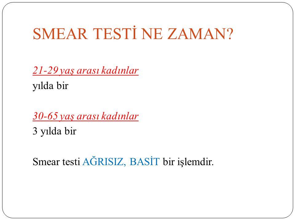 SMEAR TESTİ NE ZAMAN.