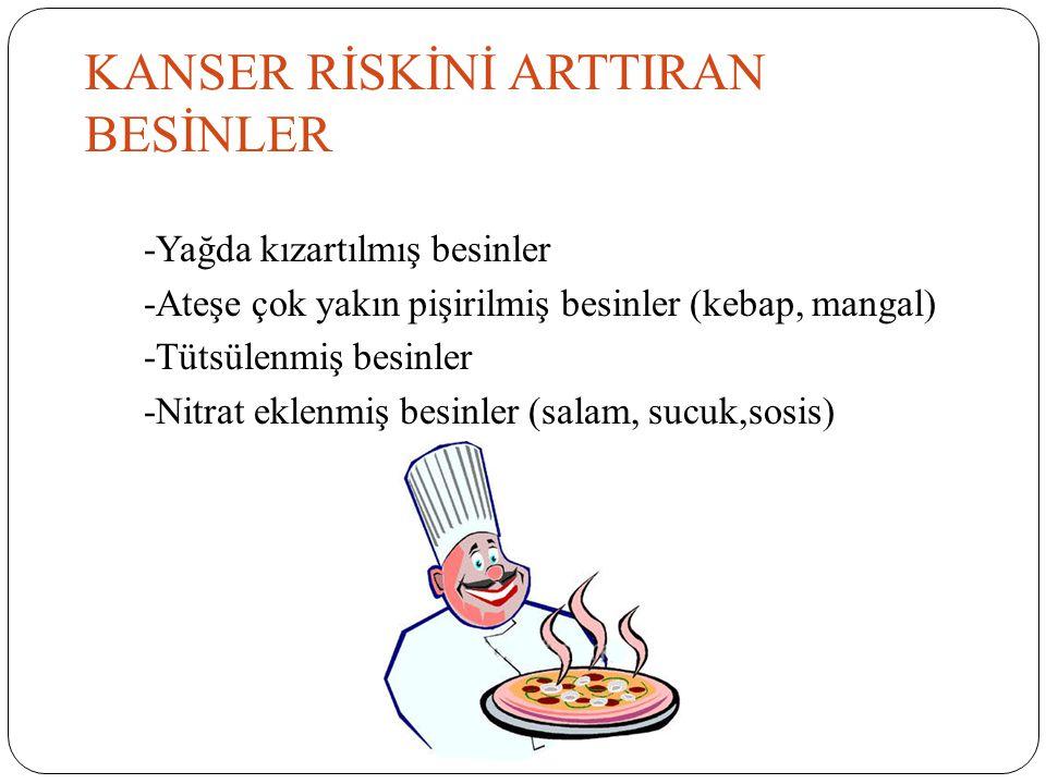 KANSER RİSKİNİ ARTTIRAN BESİNLER