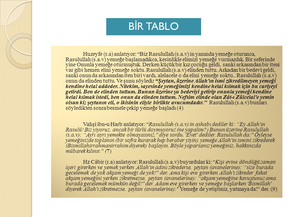 BİR TABLO